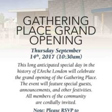 Gathering Place Grand Opening (Thursday, Sep 14, 2017)